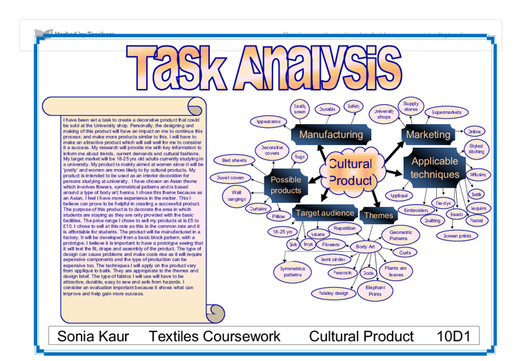 Gcse food technology coursework task analysis