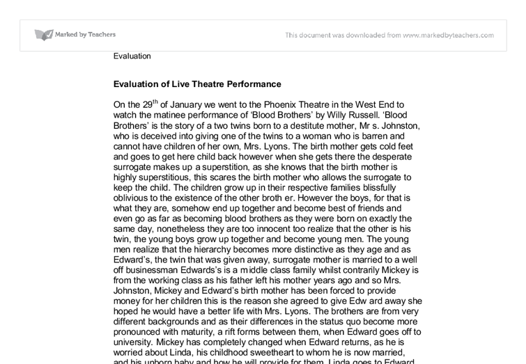 essay on drama Gcse drama gives students good marks in this exam can be developed by accessing the marked by teachers website which has hundreds of relevant essay answer.