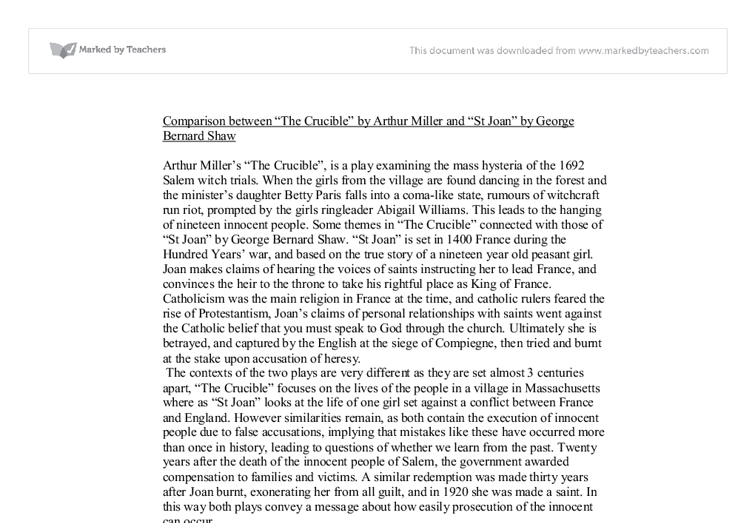 the crucible essay on the theme of having a good name