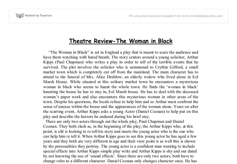 the woman in black portfolio essay Process portfolio essay 1: close reading  author of another famous novel-turned-animated disney classic the black  these changes from a young girl into a woman .