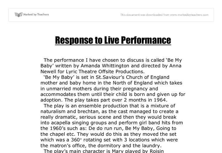gcse drama: responding (sparkleshark) essay A secondary school revision resource for gcse drama about creating drama and explorative strategies british broadcasting corporation home  structure of your play.