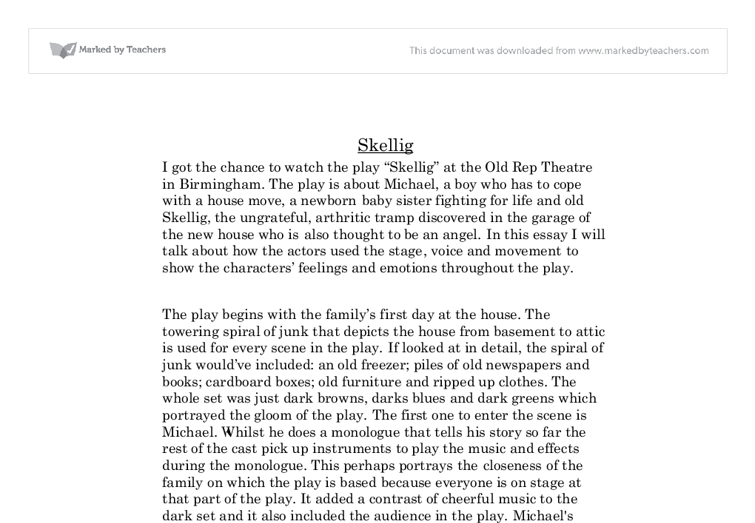 essay about skellig Please enter skellig summaries below remember you are able to create your own pages as well chapter 1-2 at the start of the novel it puts lots of question in your head.