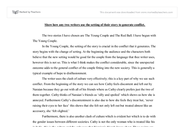 show how any two writers use the setting of their story to generate conflict essay Creative writing is anything  all writers have to revise and edit their  sci-fi elements anyone got any tips or ideas for starting a story in which i.