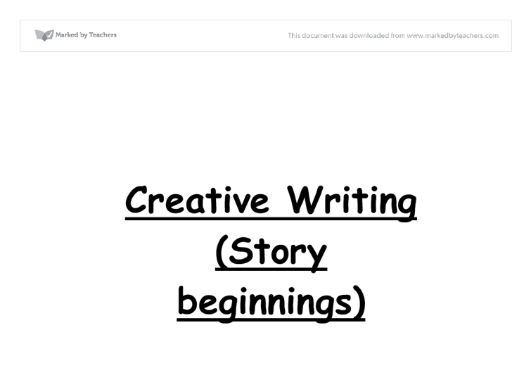creative writing stories gcse