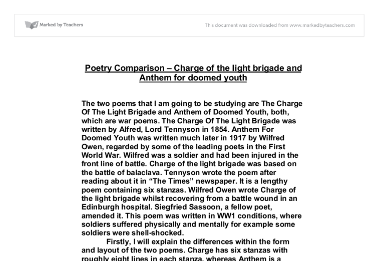 war poetry essay anthem for doomed youth A hsc wilfred owen essay for module b of standard english it's analysis focuses on anthem for doomed youth and dulce et decorum est contains the standard structure for an essay, with synthesis links to futility.