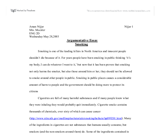 Stop-Smoking Essay Expository