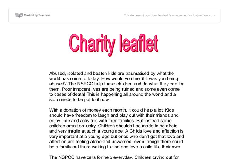 essays on charity Participating in charity events essay sample i am here today to speak about the importance of taking time to participate in charity events there are many events that happen all across the united states to benefit charities every year.