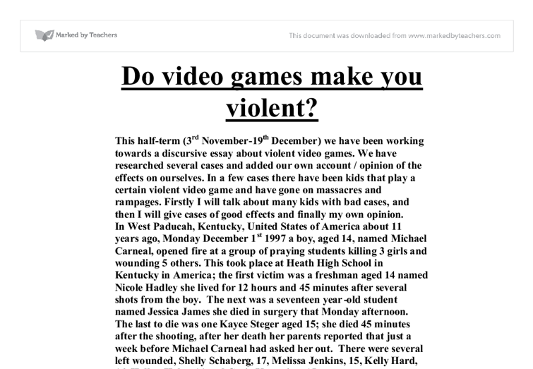 Essay about video games