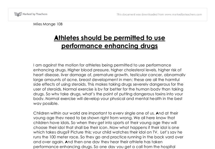 Drug Testing of Student Athletes Essay Sample