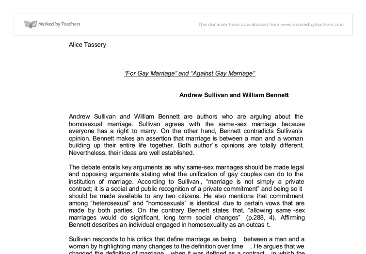 same sex marriages essay papers Lauren altergott's e-portfolio search this site home same-sex marriages should be legalized because the discrimination same-sex couples receive is emotionally.