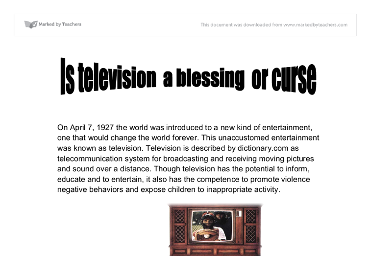 Television a boon or curse for kids
