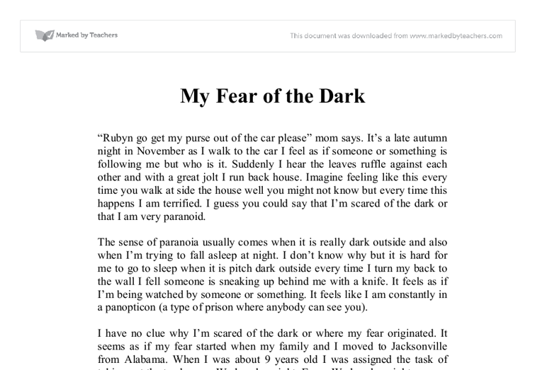 Essay about fear