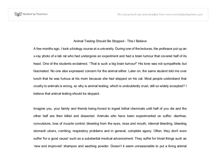 persuasive speech thesis animal abuse