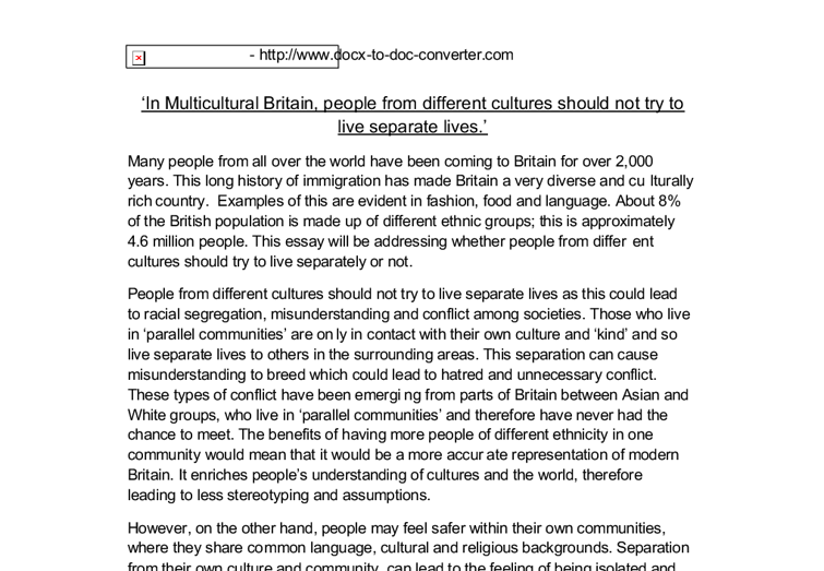 multiculturalism in britain essay