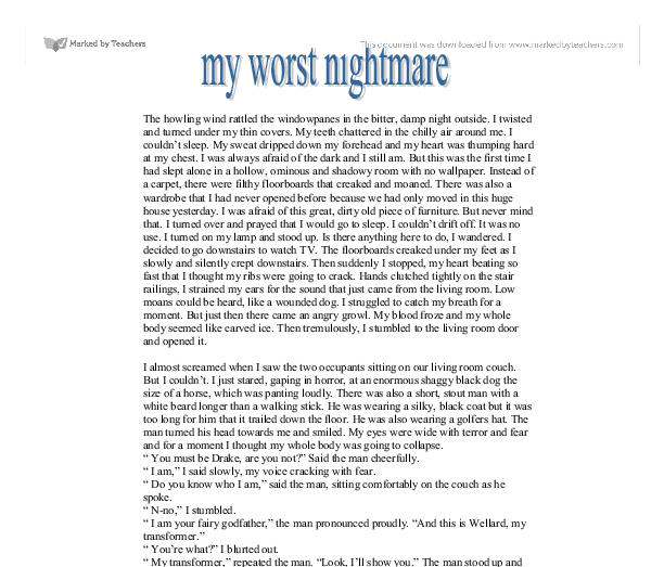 descriptive nightmare essay Teaching ideas based on new york times content overview | how can sports writing serve as a model for descriptive pieces of any kind how can descriptive.