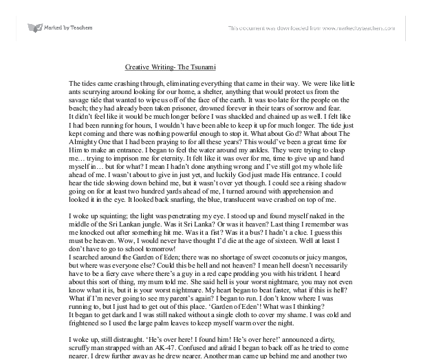 A great earthquake essay
