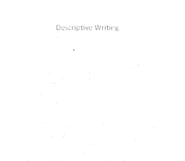 descriptive essay of a man