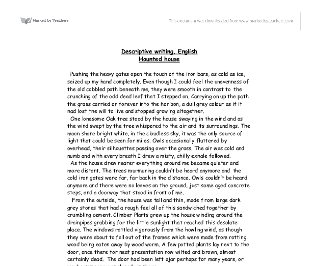 Descriptive composition essay