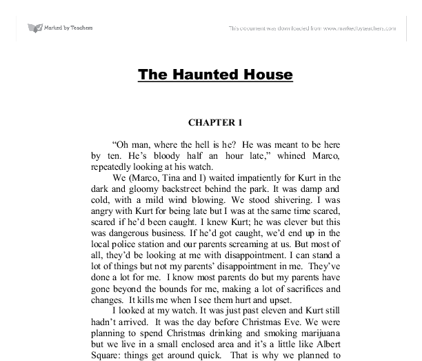 narrative essay on a haunted house Descriptive essays can be the easiest essays to write, once you come up with a good topic here is some bits of advice and a nice long list of 100 great descriptive essay topics to help and inspire.