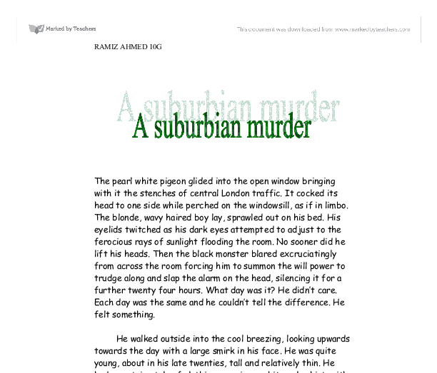 a suburbian murder A simple suburban murder (tom mason and scott carpenter, book 1) by mark richard zubro - book cover, description, publication history.