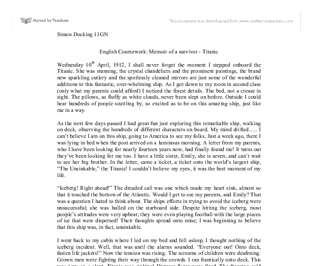Sample memoir essays