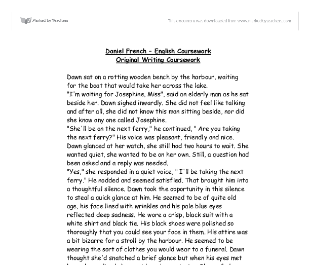 gcse coursework english original writing