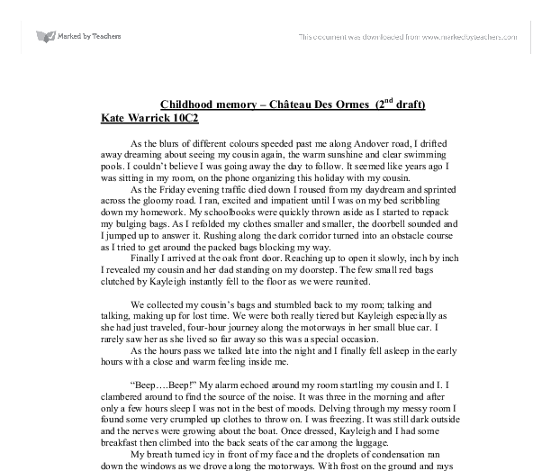 Childhood essay english
