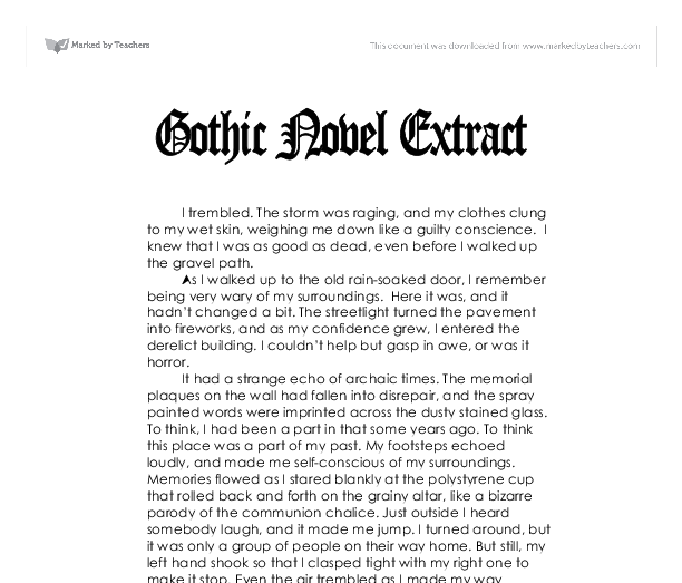 gothic texts essay Introduction gothic literature, originating in the late 18th century, coalesce the rhythmical language and vivid imagery of romance novels with the dark and terrific.