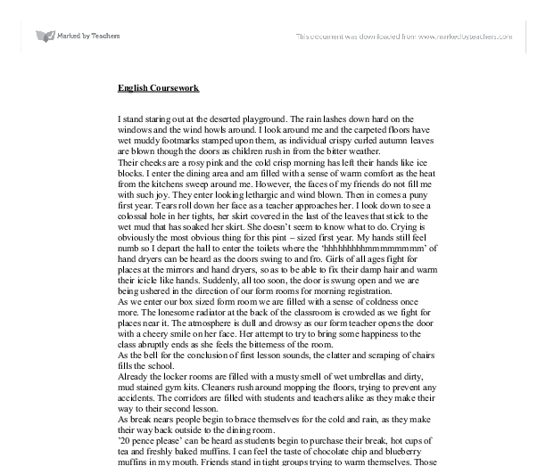 gcse english descriptive essay Gcse english literature revision for frankenstein this chapter provides sample essays written by pupils studying the novel.