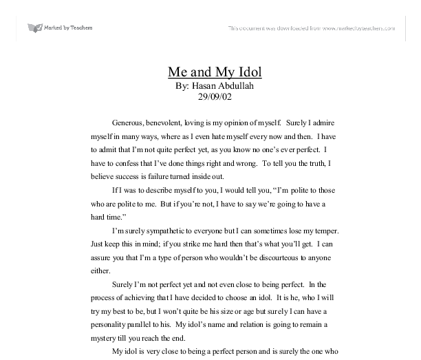 My idol essay free