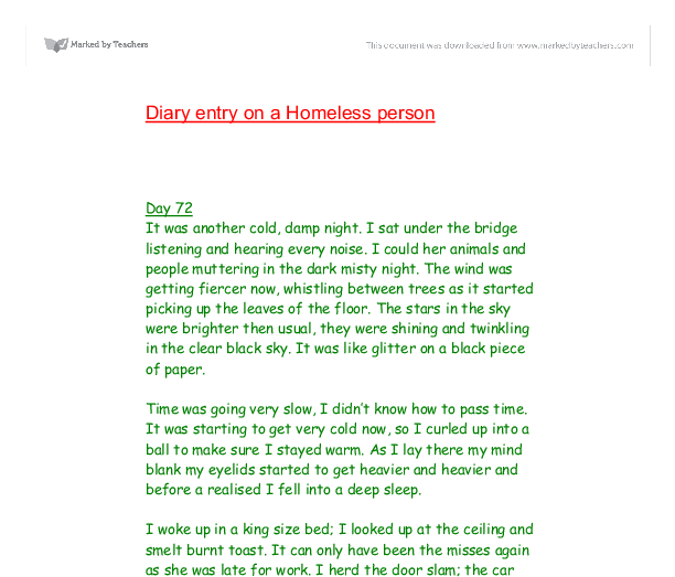 Homelessness People Essay