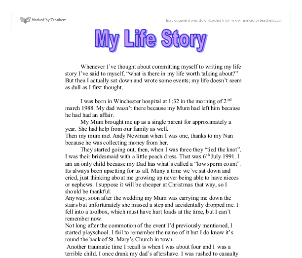 stories about my life essays
