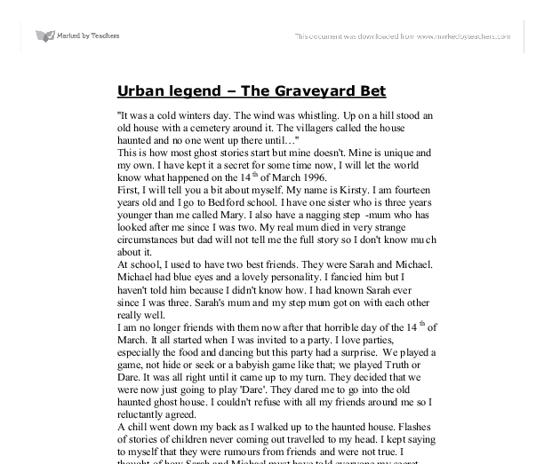 urban legend essay Read urban legend montreal the headless ghost of marry gallagher short story by nick meraglio read the short story free on booksie.