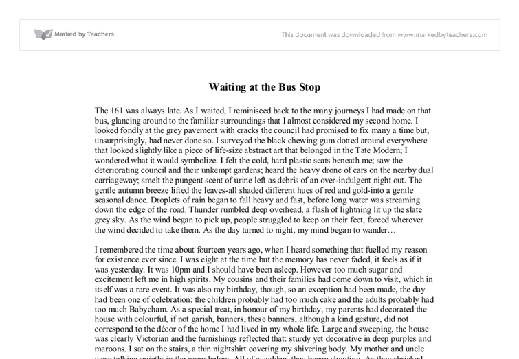 descriptive essay about a waiting room