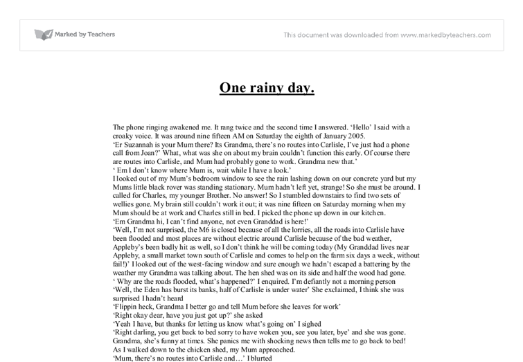 Descriptive essay on a rainy day