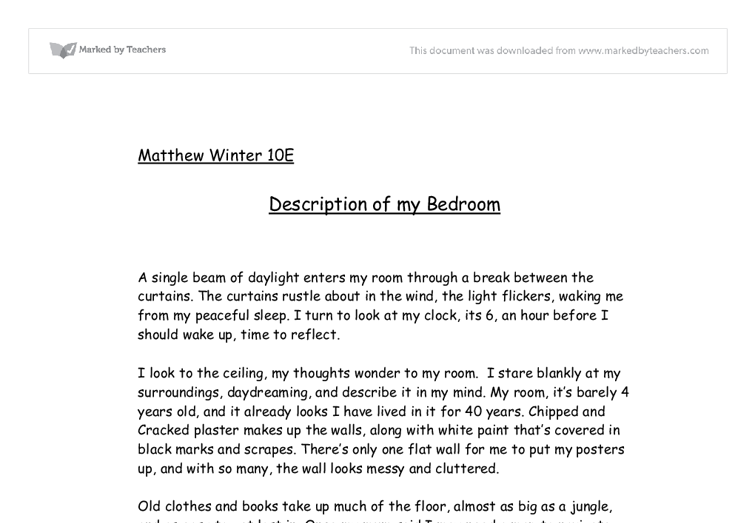 Essay about my room