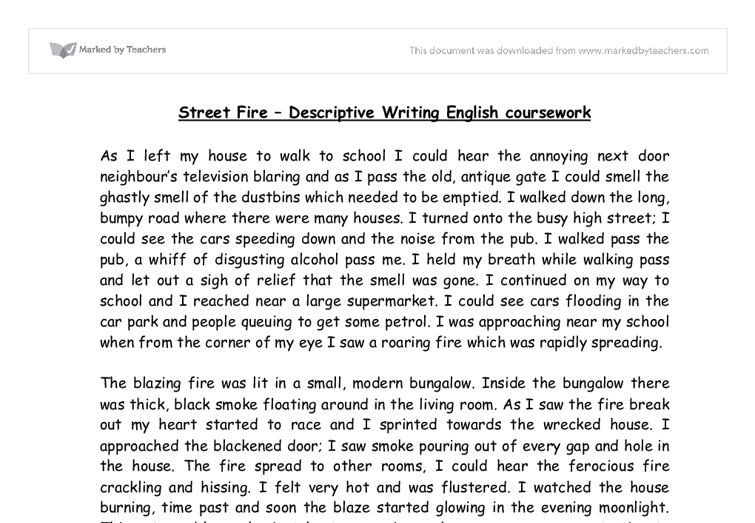 describe a street fire that takes place to a building and your  document image preview