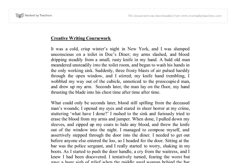 english a-level coursework - creative writing Ocr as english literature re-creative writing resource for centres, 2010  examples of coursework offered in the summer 2009 session which were felt to be.