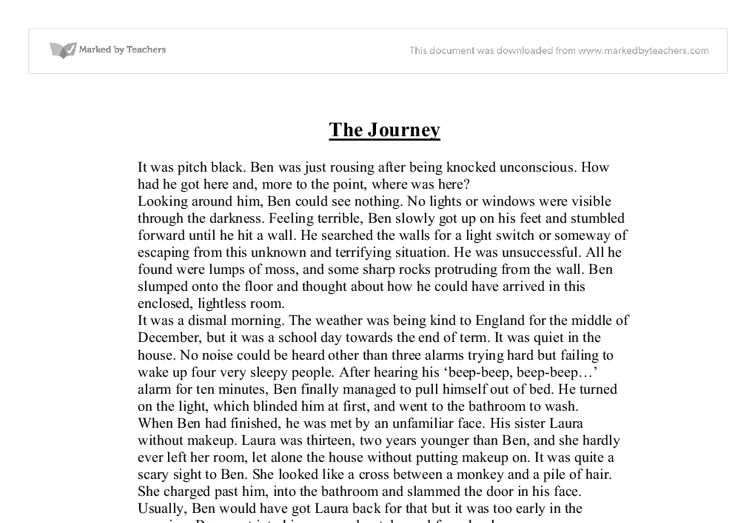 the journey creative writing gcse english marked by