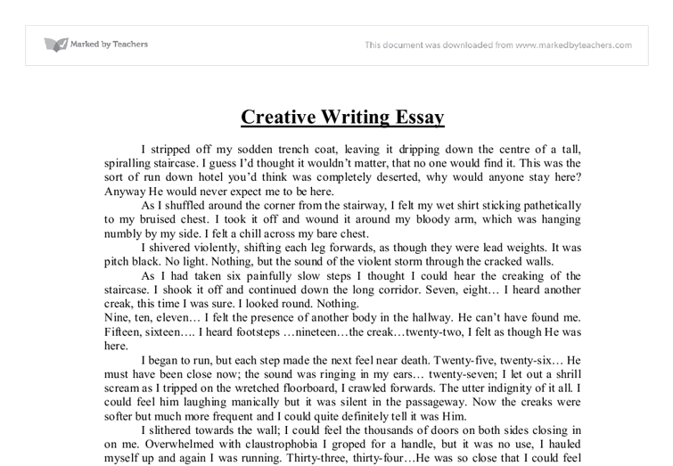 Creative Writing examples of college papers