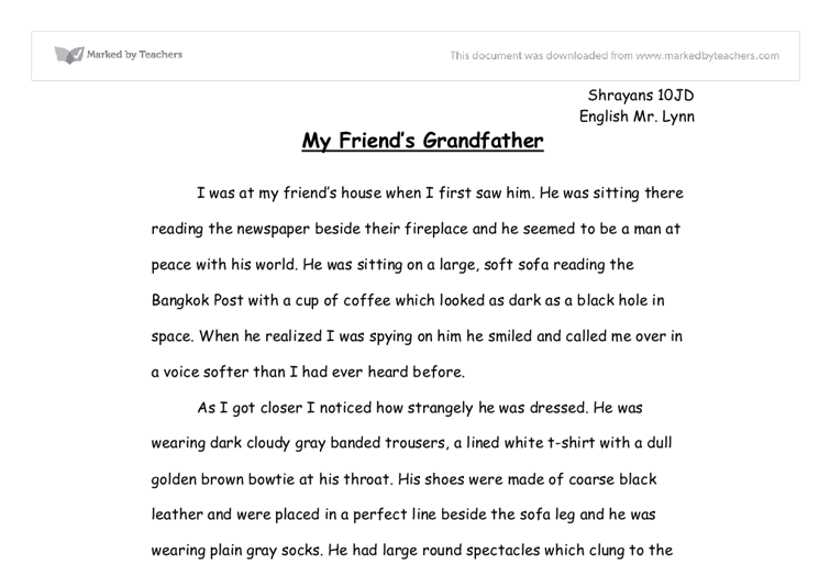 My grandfather essay