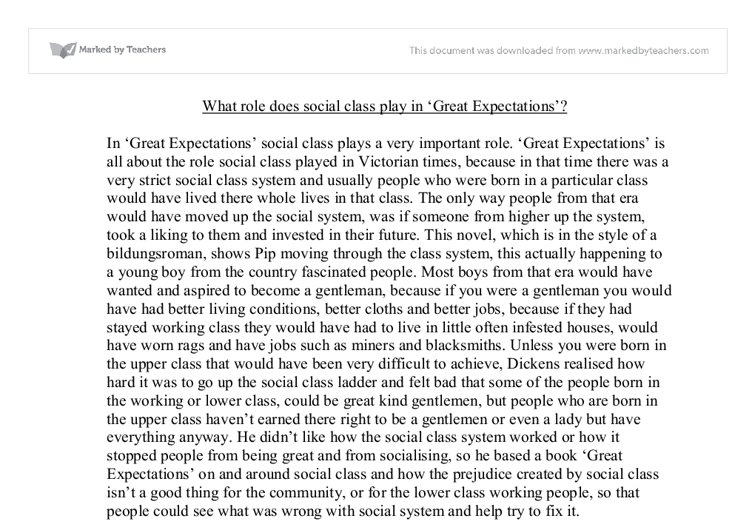 essay great expectations social class