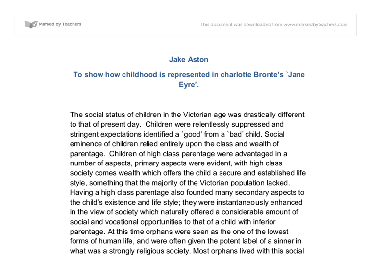 character analysis essay on jane eyre Characters (major and minor): jane eyre:detailed analysis of in charlotte bronts jane eyrein the novel 'jane eyre' by charlotte bronte, jane shows self-confidence.