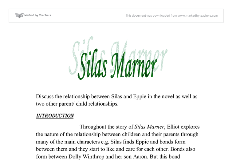 silas marner theme essays Need help on themes in george eliot's silas marner check out our thorough thematic analysis from the creators of sparknotes silas marner themes from litcharts.