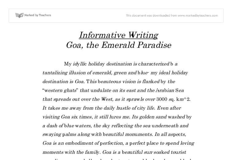 essay on a book examples