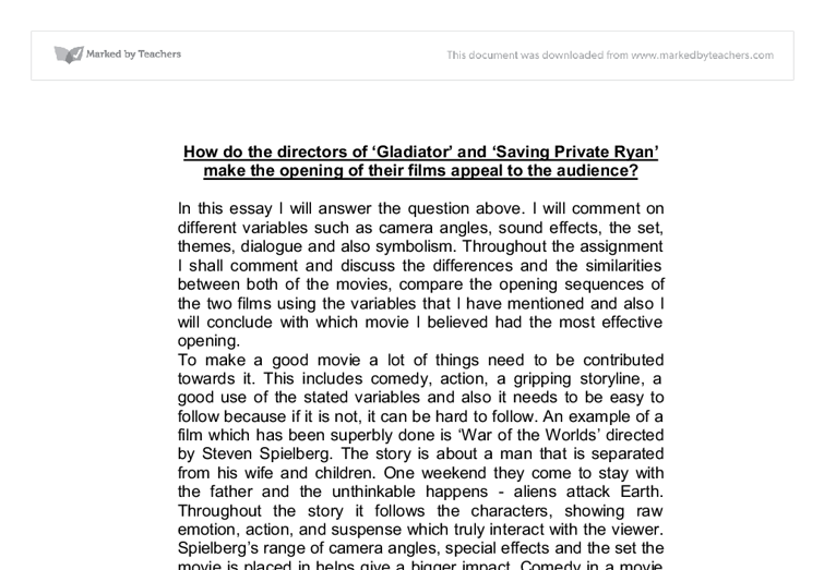 saving private ryan conclusion essays Classic war movie: saving private ryan - with a free essay review - free essay reviews.