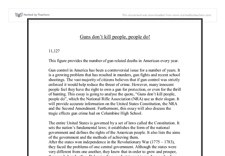 gun control is needed in america essay