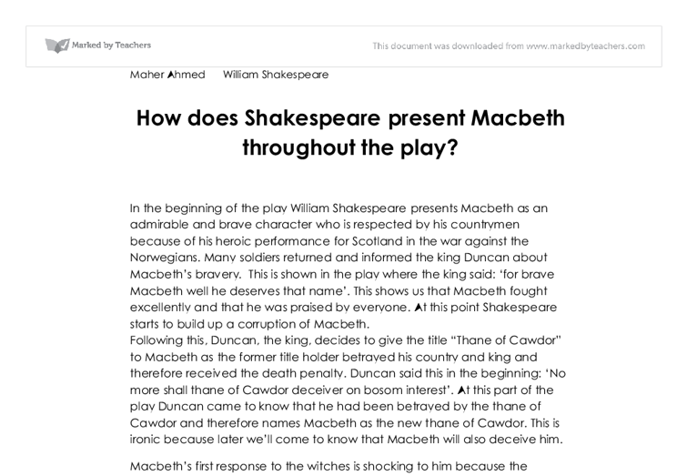 an analysis of a play considered as a tragedy in the play macbeth Macbeth | analysis | morality  this isn't known until the very last scene of the play when malcolm makes his speech  be it in the form of death or some .