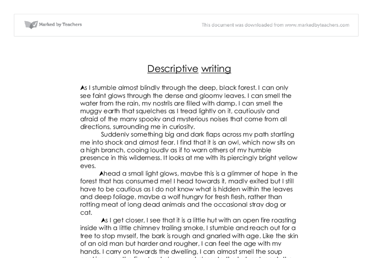 Descriptive essay on forest fire