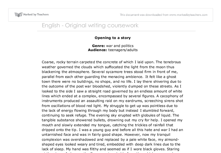 gcse english original writing essay